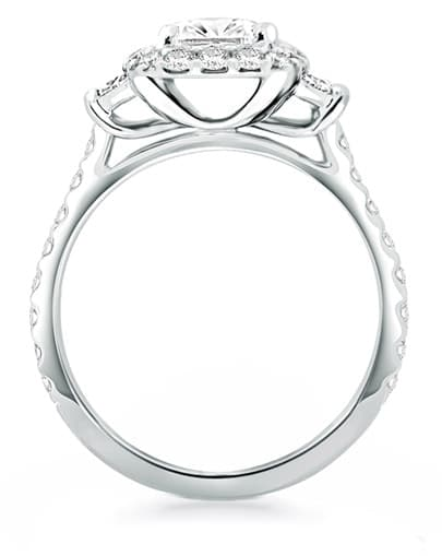 Nightingale Engagement Ring - Profile