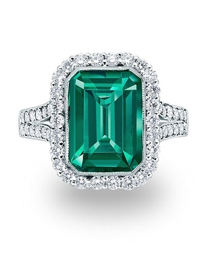 Catalina Emerald and Diamond Ring - Setting