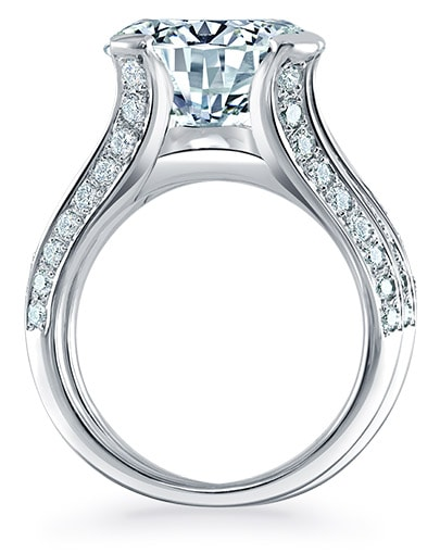 Monaco Engagement Ring - Profile