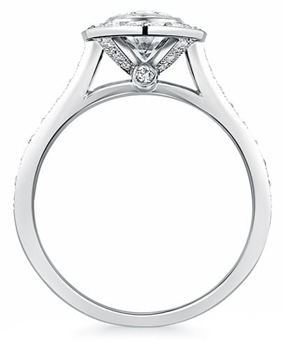 Elizabeth Oval Halo Ring - Profile