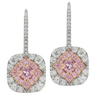 Pink Argyle Drop Earrings